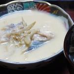豆乳仕立てのタラみそスープ